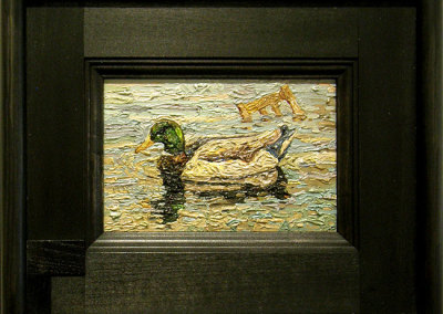 Gord Peteran, Toronto, ON - Decoy, 2012. Oil paint, $400
