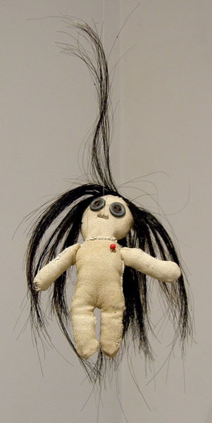 Laura Hosaluk, Saskatoon, SK - Is My Voodoo Working? 2010. Horse hair, lint, linen, found objects, $75