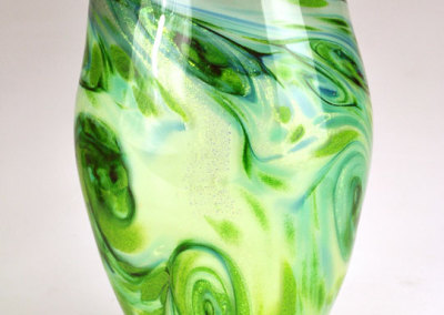Green Multi-Layered Vase