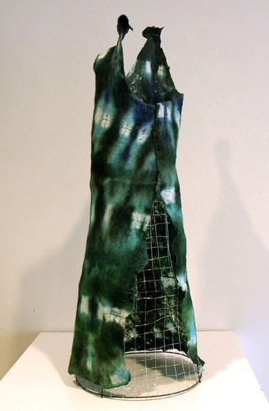 Knowing the Way Out (back), 2009: Wool, acrylic medium, wire, wood, beads, metal; hand felted, hand dyed - $850