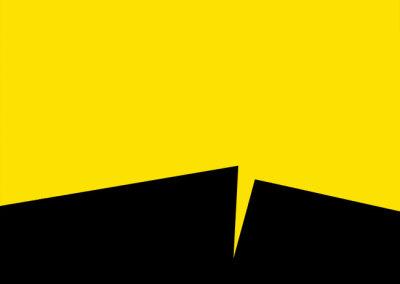 Hosaluk: Prairie Landscape (yellow, black) - 2013, Wood, acrylic. $650