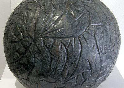 Charley Farrero, Bolita Negra: Stoneware; hand built, salt fired. 2011, $500.