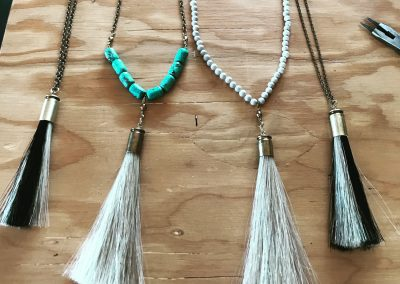Horsehair & Bullet necklaces