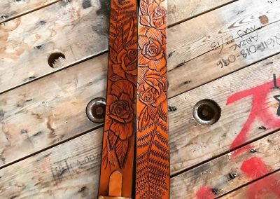 Tooled guitar strap (1)