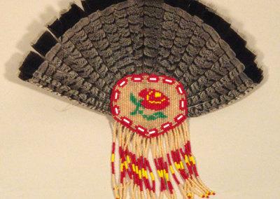 Beaded Feather Fan - Annie Venne