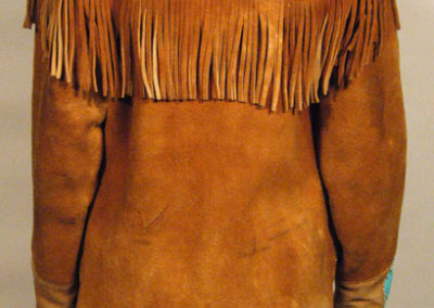 Beaded Jacket Circular Pockets Back - Unknown Artist
