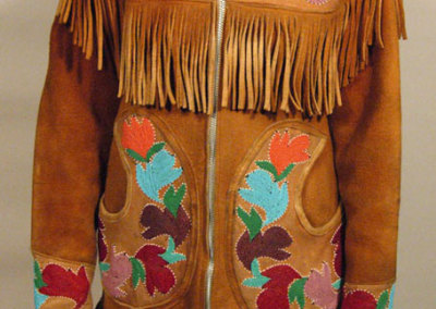 Beaded Jacket Circular Pockets Front - Unknown Artist