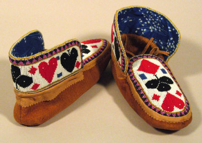 Beaded Moccasins 4 -