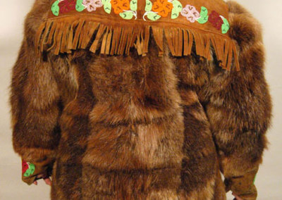 Beaver Fur Jacket Back - Unknown Artist