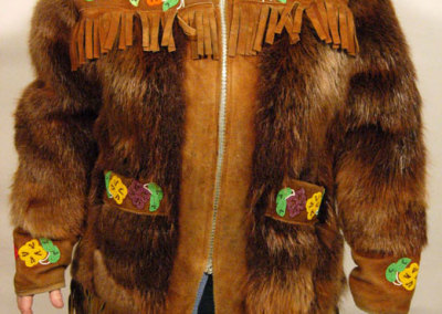 Beaver Fur Jacket Front - Unknown Artist