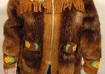 Beaver Fur Jacket Front - Unknown Artist