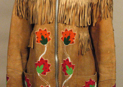 Floral Beaded Fringed Jacket Front - Unknown Artist
