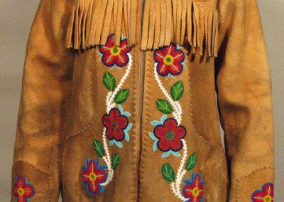Floral Beaded Jacket Front - Annie Halkett