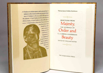 Majesty, Order and Beauty: Selections from the Journals of T. J. Cobden-Sanderson - William Rueter