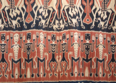 Kepala Andung (Skulltree) cloth (Ibu Yanti): Dutch cotton, indigenous natural dyes (Mengkudu root, Indigo plant): weaving. $2500.