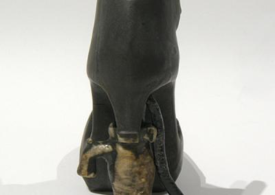 """detail of """"pump"""" heel"""