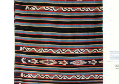 "Vintage Lau Kuda (Sarong) (Rende Royal Family - Unknown artist): Hand spun cotton, natural dyes, indigo, kombu root, and earthen ""mud"" dyes: weaving, Ikat technique. $1475"
