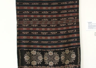 Lau Savu (Sarong) (Unknown artist): Hand spun cotton, natural dyes, indigo, mengkudu root: weaving. $650