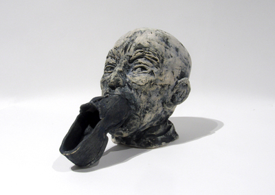 Foot In Mouth (Heather MacDonald-Sorochan), 2014: cone 10 clay, bisqued and glazed, fired to cone 4; hand built, slab built. $150