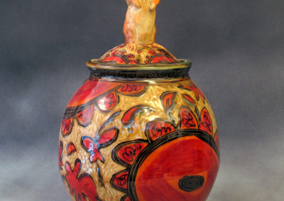 18. Gopher Jar (Debra Kuzyk and Ray Mackie), 2016: Cone 6 porcelain; carved decoration. $850.