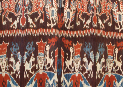 Kain Seremonial Menari (Ceremonial Dancing cloth) (Unknown artist): Dutch cotton, indigenous natural dyes (Mengkudu root, Indigo plant): weaving. $2500