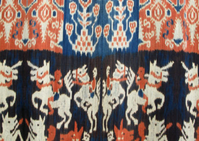 Kain Lakataka (Unknown artist): Dutch cotton, indigenous natural dyes (Mengkudu root, Indigo plant): weaving. $2000