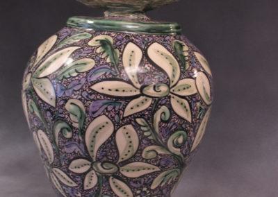 20. Pigeon Jar (Debra Kuzyk and Ray Mackie), 2014: Stoneware; with luster. $950.