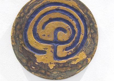 Finger Labyrinth (Teresa Gagne), 2014: Earthen Ware, glaze, silica sand, ceramic stain; slab construction. $130
