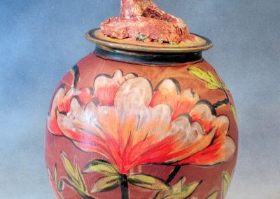 27. Gopher Jar (Debra Kuzyk and Ray Mackie), 2016: Cone 6 porcelain; on-glaze decoration. $750.