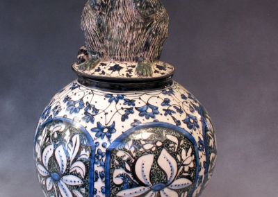 31. Raccoon Jar (Debra Kuzyk and Ray Mackie), 2014: Stoneware. $1,200.