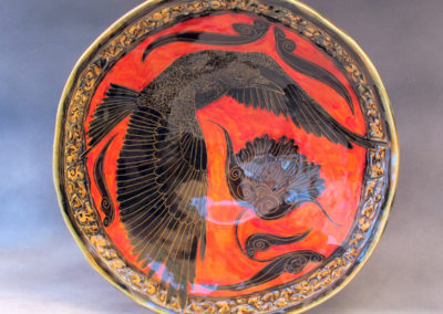 37. Crow Bowl (Debra Kuzyk and Ray Mackie), 2016: Stoneware; hand-built. $750.