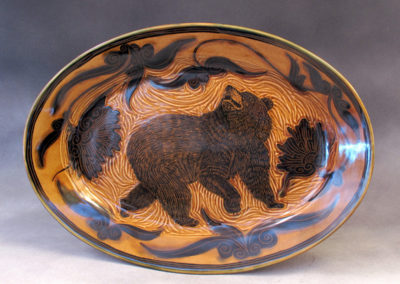 41. Black Bear Platter (Debra Kuzyk and Ray Mackie), 2016: Cone 6 porcelain. $600.