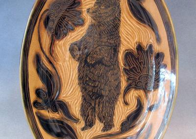 42. Black Bear Platter (Debra Kuzyk and Ray Mackie), 2016: Cone 6 porcelain. $400.