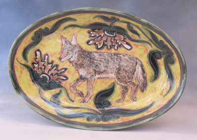 Coyote Platter (Debra Kuzyk and Ray Mackie), 2016: Cone 6 porcelain. $400.