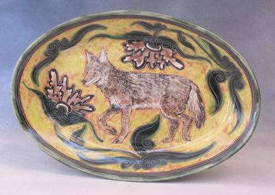 Coyote Platter (Debra Kuzyk and Ray Mackie), 2016: Cone 6 porcelain. $400.
