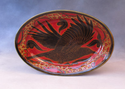 50. Crow Platter (Debra Kuzyk and Ray Mackie), 2016: Cone 6 porcelain. SOLD.