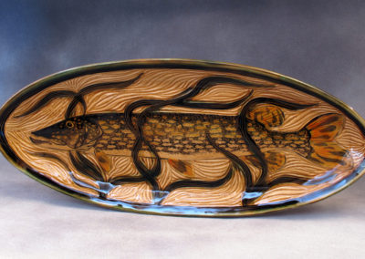 57. Nothern Pike Platter (Debra Kuzyk and Ray Mackie), 2016: Cone 6 porcelain. $600.