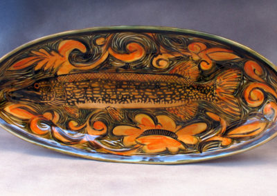 58. Nothern Pike Platter (Debra Kuzyk and Ray Mackie), 2016: Cone 6 porcelain. $600.