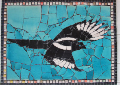 64. Magpie Mosiac (Ray Mackie), 2016: Cone 6 porcelain. $600.
