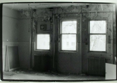 "Kaitlyn Frolek ""Abandoned Room, Padova City"" 2011. Resin coated photo paper; 35mm black and white film with 3200 ISO enlarged on resin coated mural paper, $450"