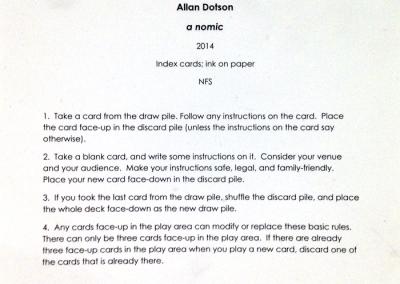 a nomic (Allan Dotson), instructions