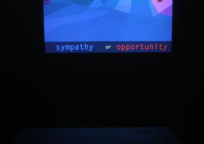 Category Shift (Berkley Staite), 2014: Digital software (Unity, Blender, Adobe Photoshop); coding in C#, digital image and mesh manipulation. NFS
