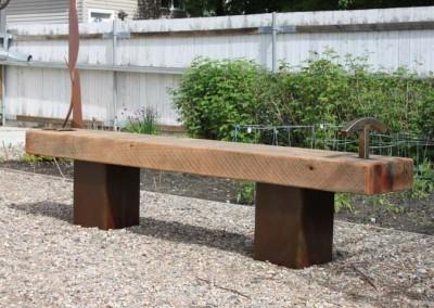"M Craig Campbell ""Garden Bench#1"" 2014; $4,000"