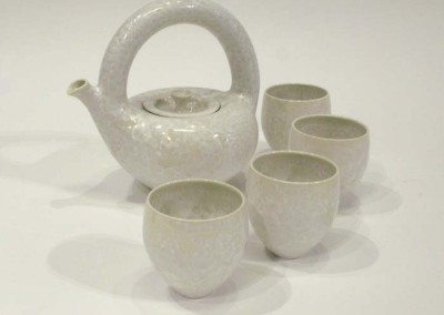 "Gail Carlson ""Crystal Tea Set (White)"" 2015; $600"