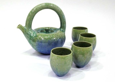 "Gail Carlson ""Crystal Tea Set (Green)"" 2015; $600"