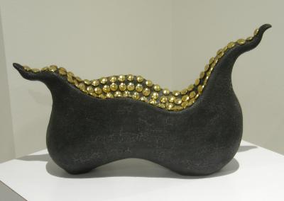 De La Mer #2: Stoneware, slip, underglaze, glaze,