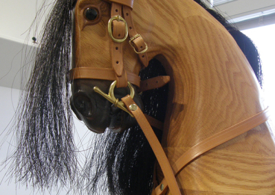 Traditional English Rocking Horse on Glider Stand (Ed Schille), detail