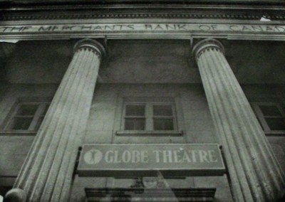 "Ian Preston ""Globe Theatre"" 1982. Gum print; Printed on archival paper from 4x5 negative. Not for sale."