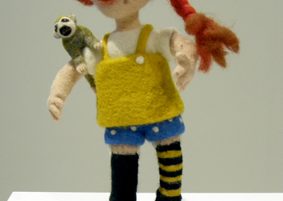 Pippi (Heike Fink), 2014: 100 % wool; needle felting. $450