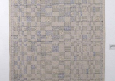 "Lynne Hermanson ""Untitled (blue threads)"" 2014; $2,195"